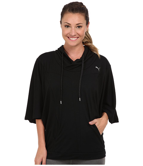 PUMA - Studio Yogini Cover Up (Black) Women's Sweatshirt