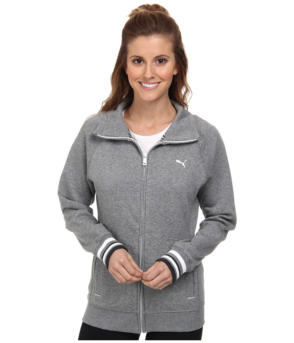 PUMA - Sweat Jacket (Medium Gray Heather) Women
