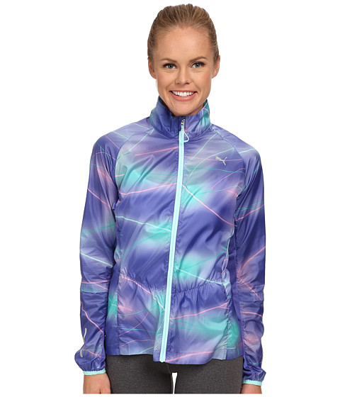 PUMA - Pr Graphic Lightweight Jacket (Blue Iris) Women's Jacket