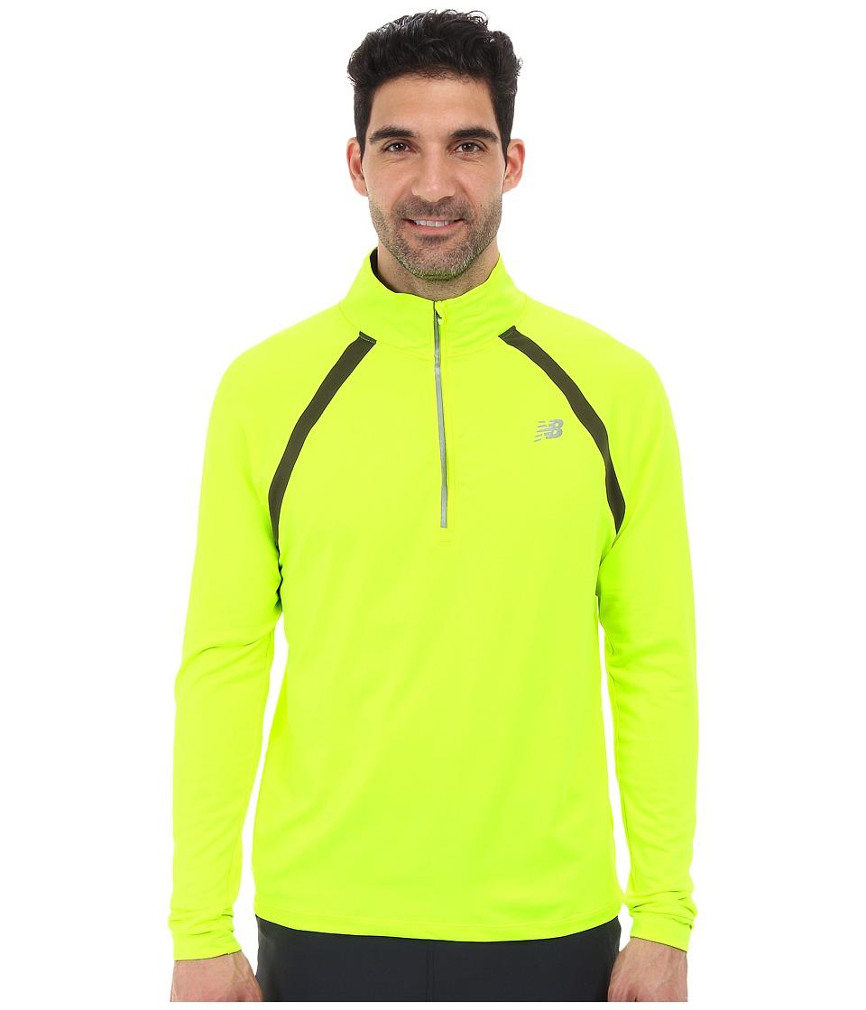 New Balance - Running Quarter Zip (Hi-Lite) Men's Long Sleeve Pullover