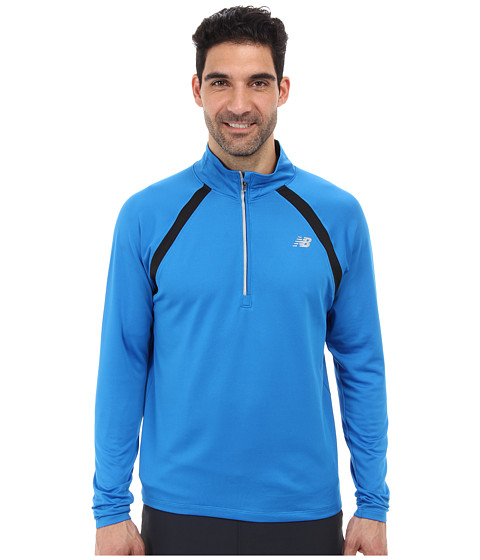 New Balance - Running Quarter Zip (Laser Blue) Men's Long Sleeve Pullover