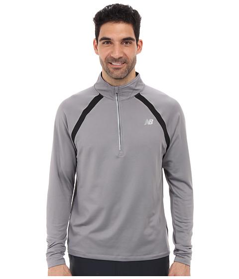 New Balance - Running Quarter Zip (Silver Filigree) Men's Long Sleeve Pullover
