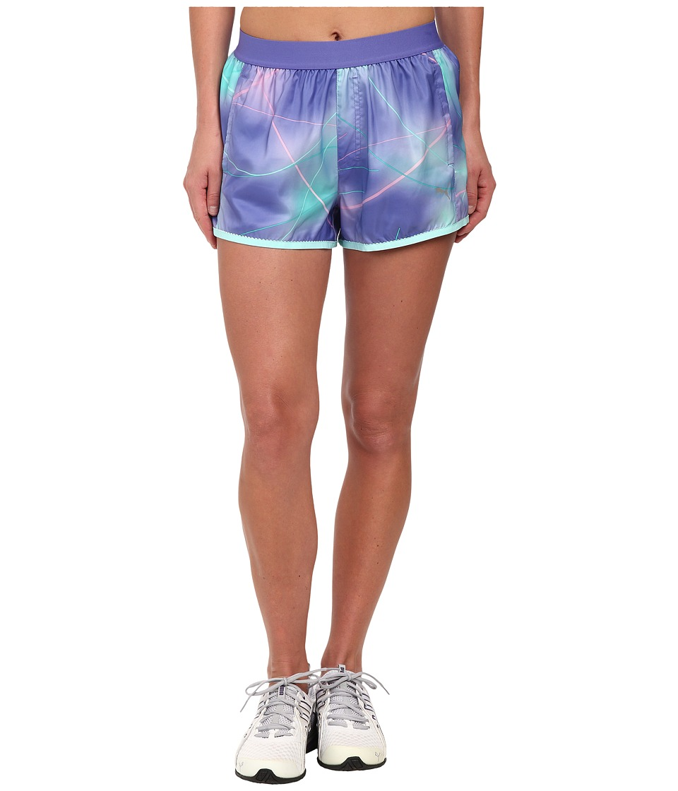PUMA - Pr Core 3 Short (Blue Iris/Graphic) Women's Shorts