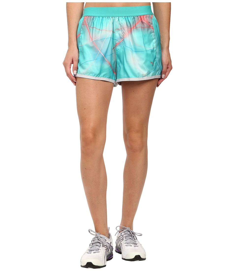 PUMA - Pr Core 3 Short (Pool Green/Graphic) Women's Shorts