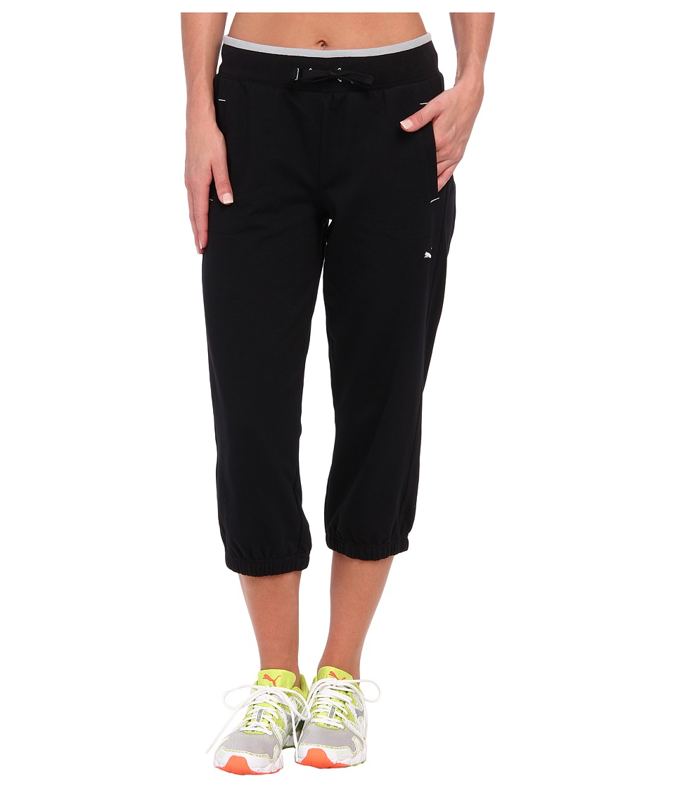 PUMA - Sweat Capri (Black) Women's Capri