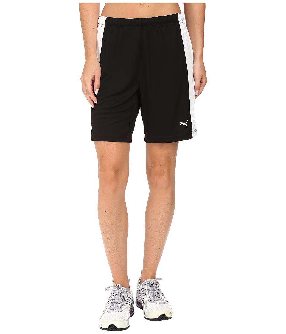 PUMA - Her Game Short (Black/White) Women's Shorts