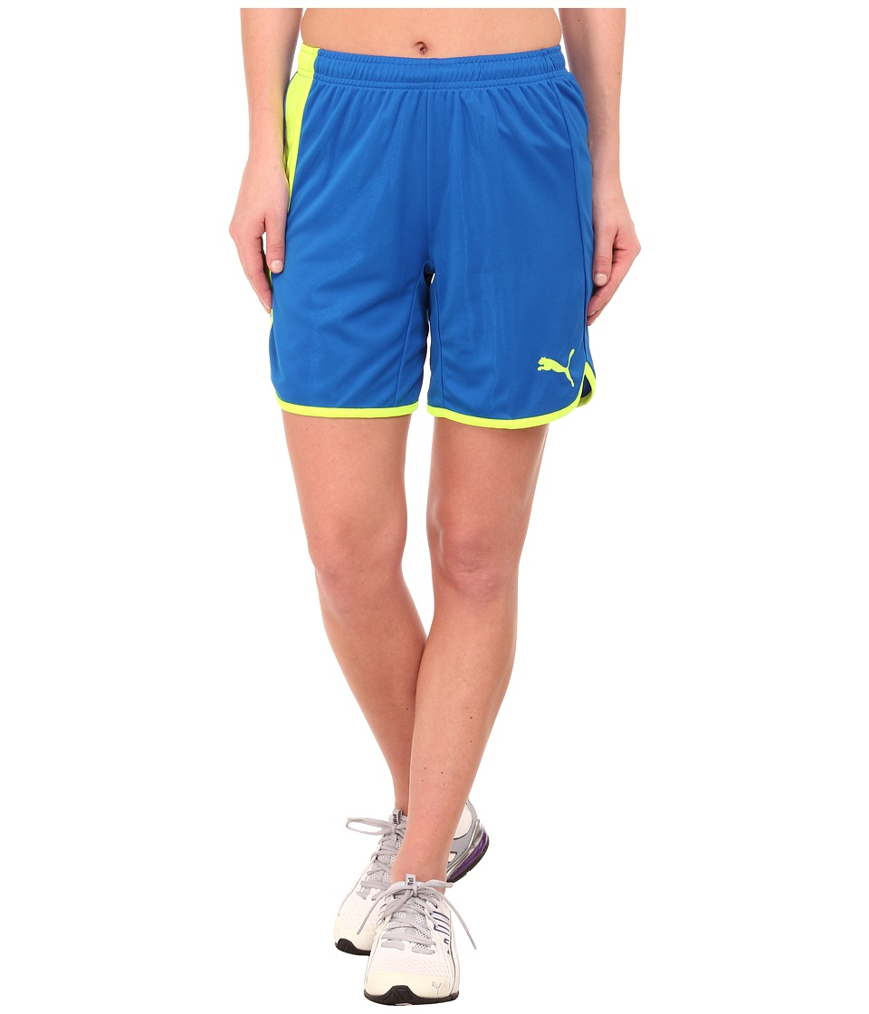 PUMA - Pulse Womens Shorts (Puma Royal/Fluro Yellow) Women's Shorts