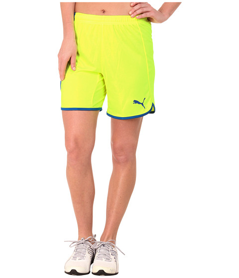 PUMA - Pulse Womens Shorts (Fluro Yellow/Puma Royal) Women