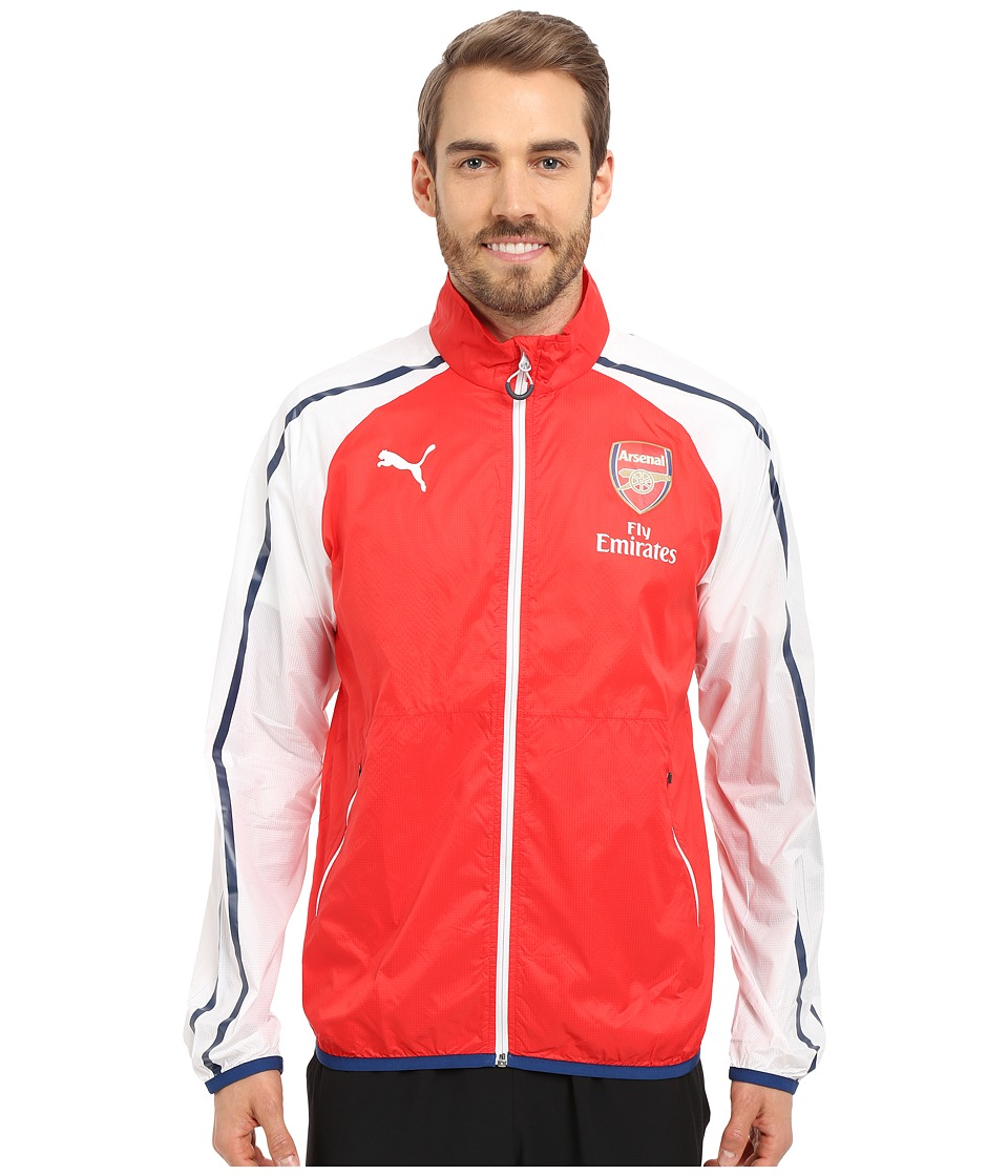 PUMA - AFC Anthem Jacket with Sponsor (High Risk Red/White/Estate Blue) Men