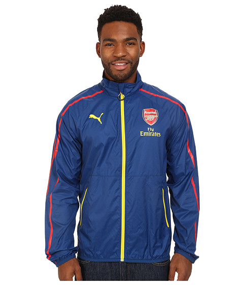 PUMA - AFC Anthem Jacket with Sponsor (Estate Blue/Empire Yellow/White) Men's Coat