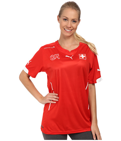 PUMA - Suisse Home Shirt Replica (Puma Red/White) Women's Clothing