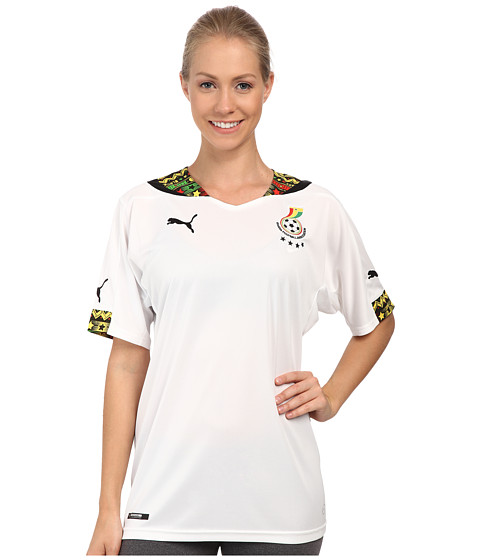 PUMA - Ghana Home Shirt Replica (White) Women's Clothing