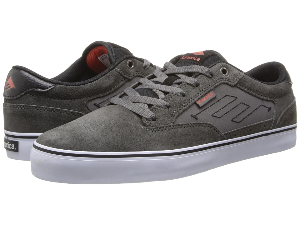 Emerica - Jinx 2 (Grey/Black/Red) Men's Skate Shoes