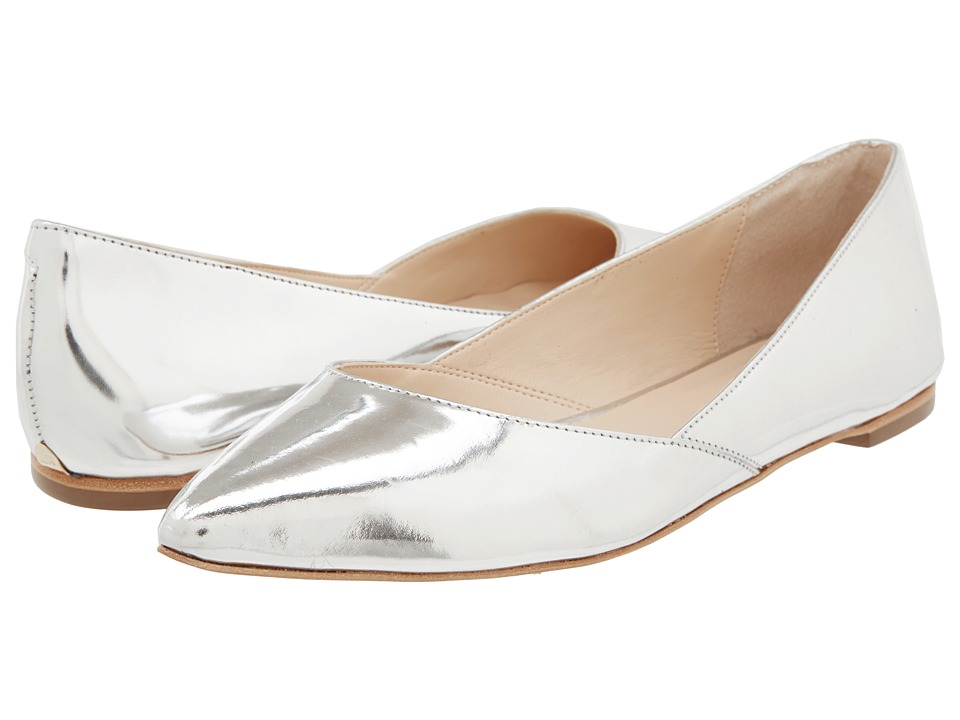 Loeffler Randall - Lou (Silver) Women's Dress Flat Shoes