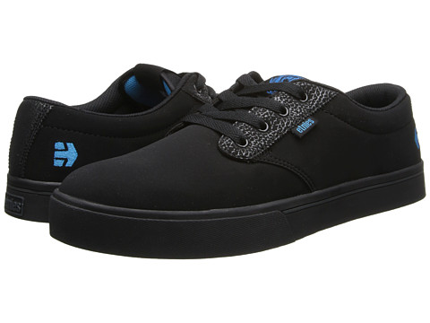 etnies - Twitch Jameson 2 (Black/Blue) Men's Skate Shoes