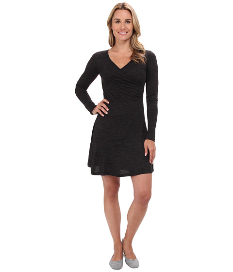 Prana - Nadia L/S Dress (Black) Women's Dress