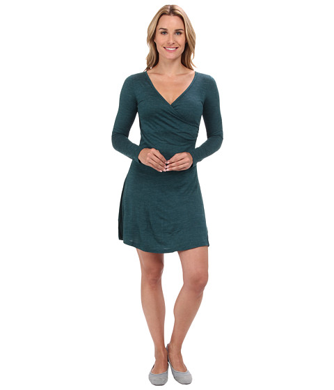 Prana - Nadia L/S Dress (Deep Teal) Women's Dress