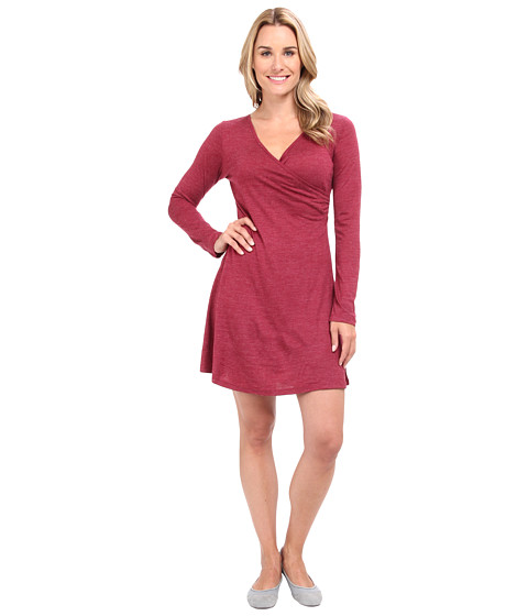 Prana - Nadia L/S Dress (Plum Red) Women
