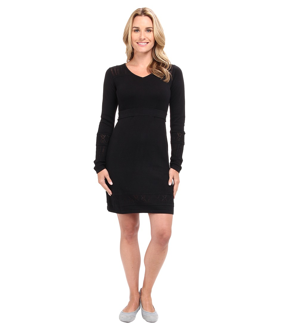 Prana - Ella Sweater Dress (Black) Women's Dress