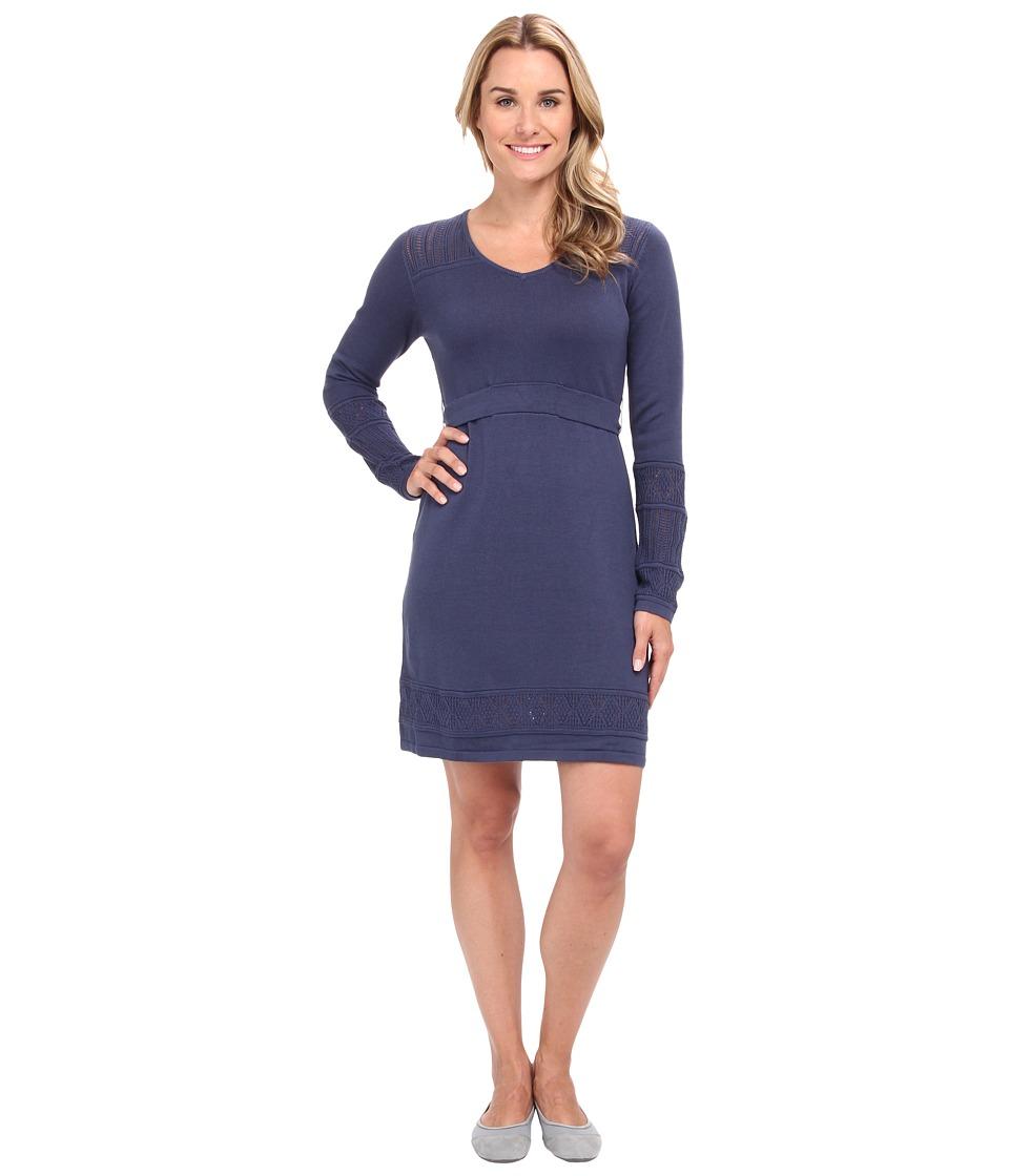 Prana - Ella Sweater Dress (Blue Ridge) Women's Dress