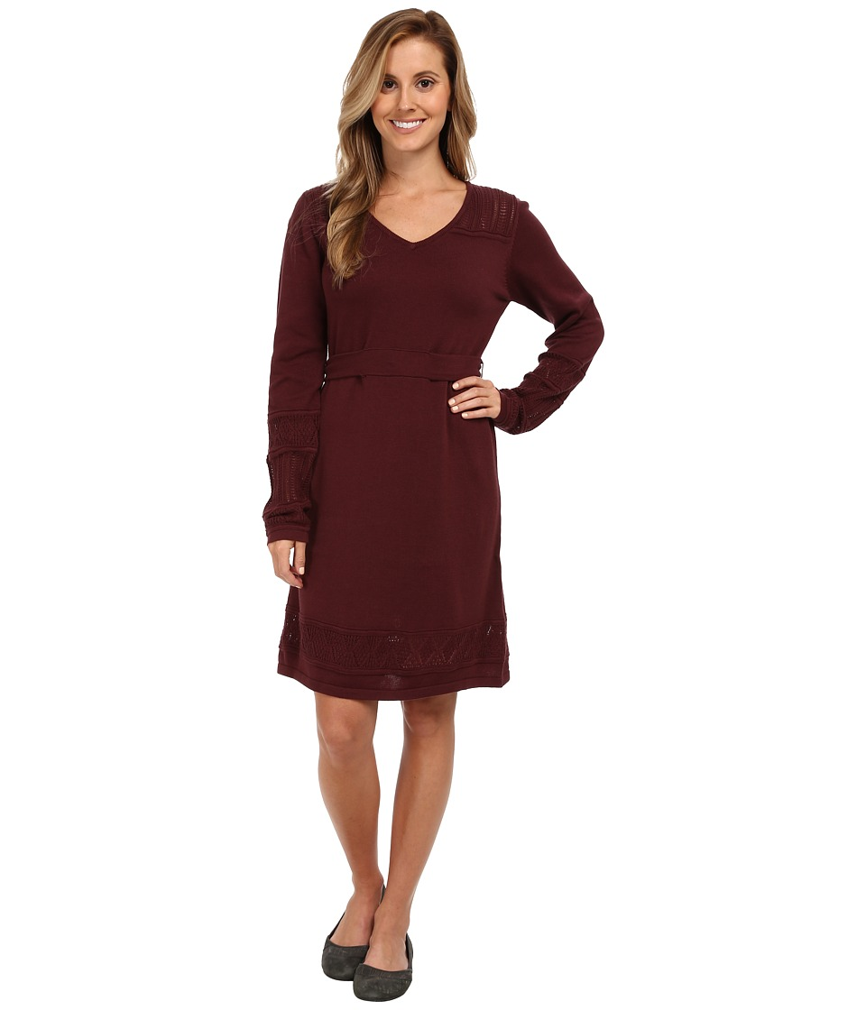 Prana - Ella Sweater Dress (Mahogany) Women's Dress