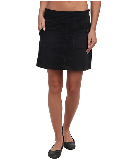 Prana - Canyon Cord Skirt (Black) Women's Skirt
