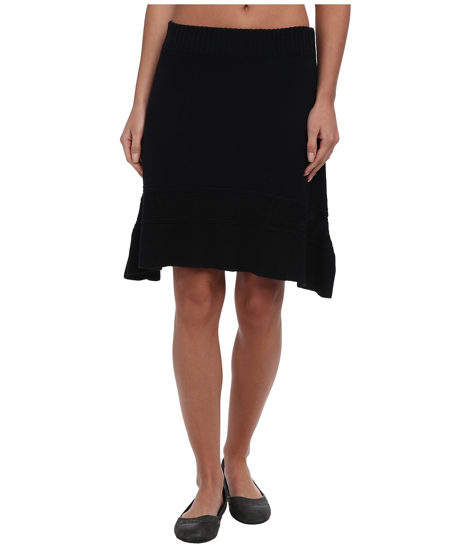 Prana - Thea Sweater Skirt (Black) Women's Skirt