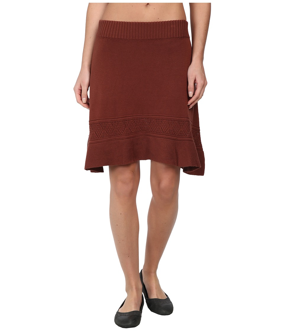 Prana Thea Sweater Skirt (Terracotta) Women