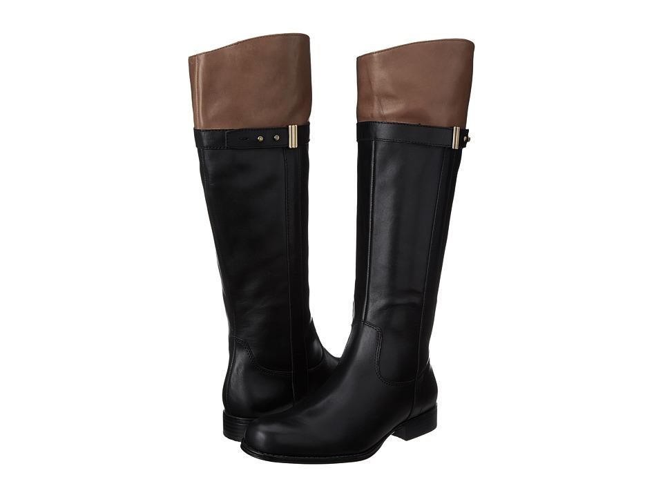 Naturalizer - Josette (Black/Banana Bread Leather) Women's Boots