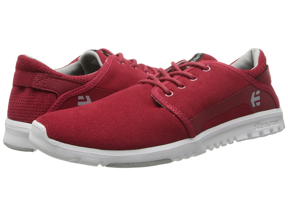 etnies - Scout (Red/Grey/White) Men's Skate Shoes
