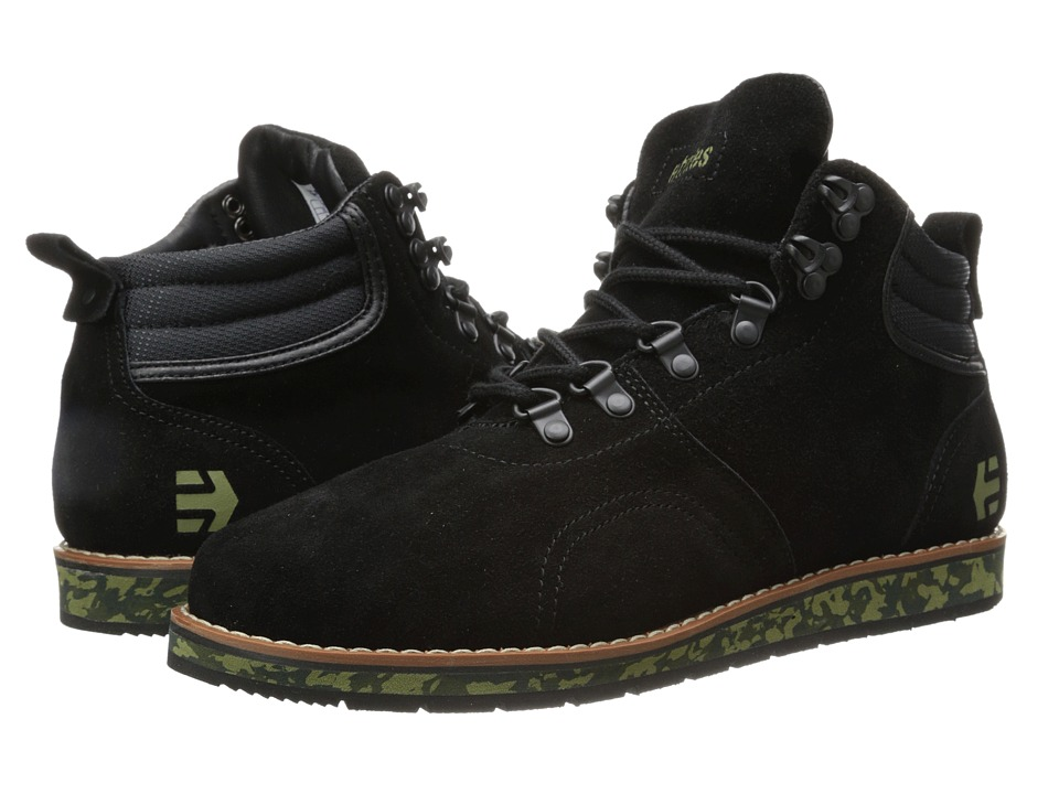 etnies - Polarise (Black/Green) Men's Skate Shoes