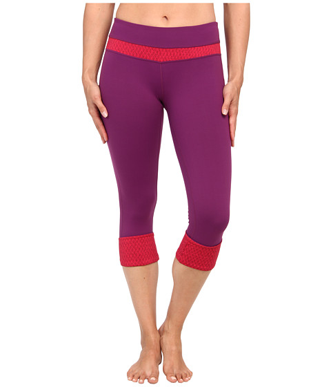 Prana - Clover Capri (Red Violet Diamond) Women's Capri