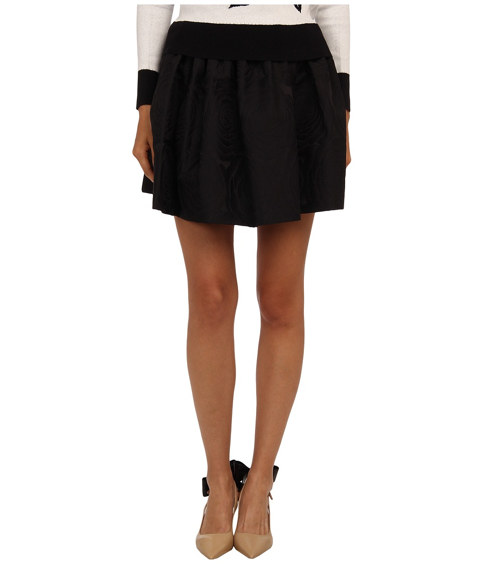 Kate Spade New York - Jacquard Cupcake Skirt (Black) Women's Skirt