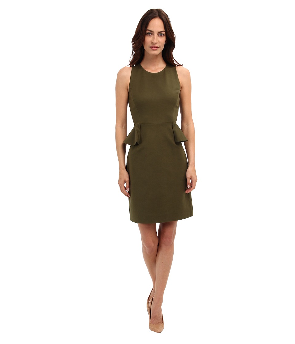 Kate Spade New York - Peplum Dress (Alma Green) Women's Dress