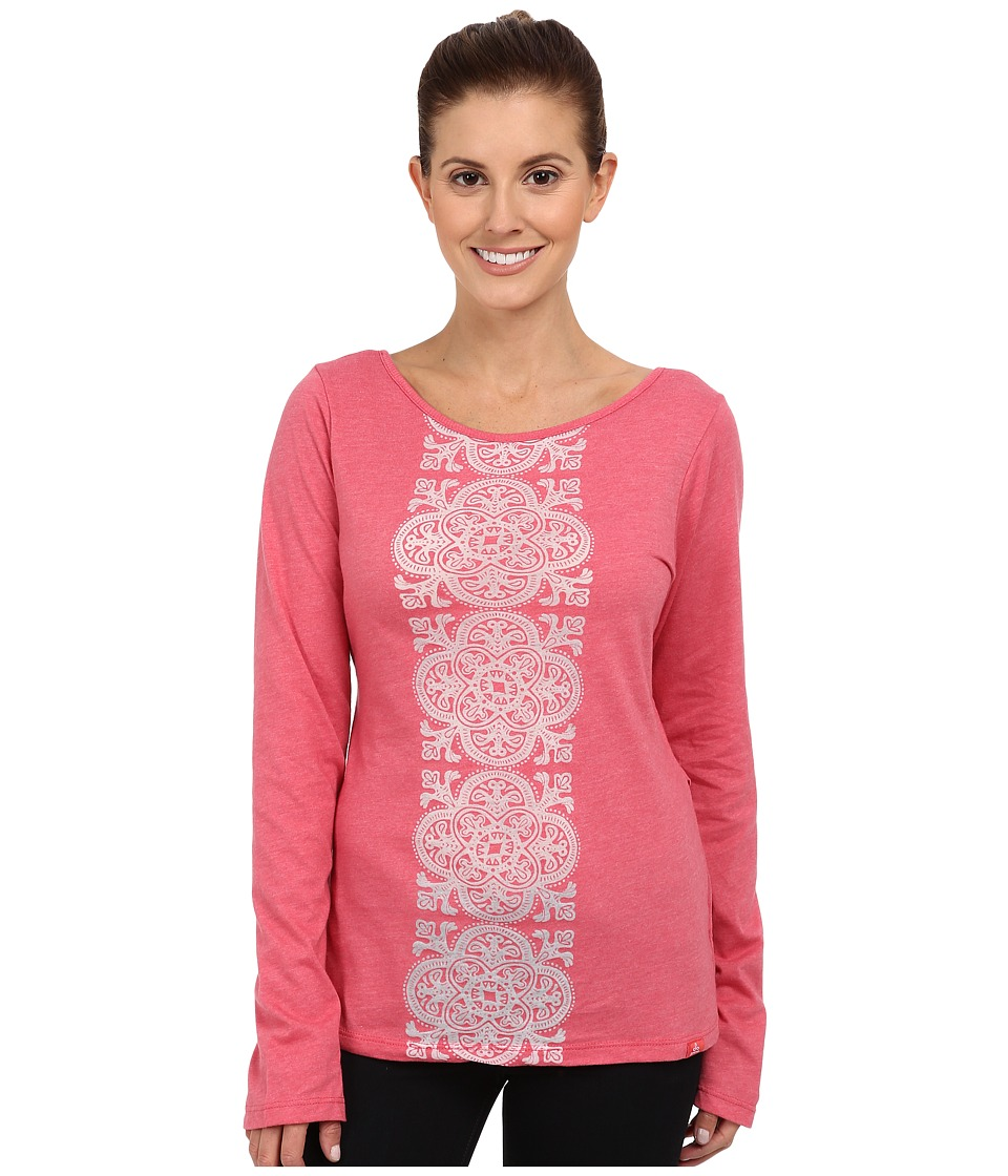 Prana - Serenity L/S Top (Red Slate) Women's Long Sleeve Pullover