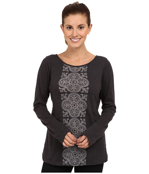 Prana - Serenity L/S Top (Black) Women's Long Sleeve Pullover