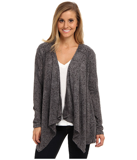 Prana - Julz Burnout Wrap (Black Posy) Women