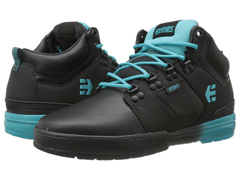 etnies - High Rise ODB LX (Black/Blue) Men's Skate Shoes