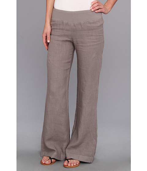 Three Dots - Wide Leg Linen Pant (Cloudburst) Women's Casual Pants