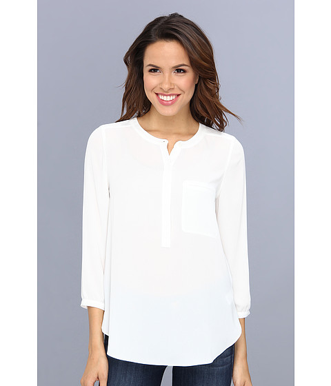NYDJ - Georgette Blouse (Off White) Women's Blouse