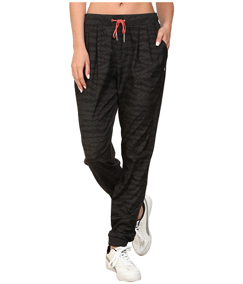 PUMA - Printed Woven Pant (Dark Gray Heather) Women