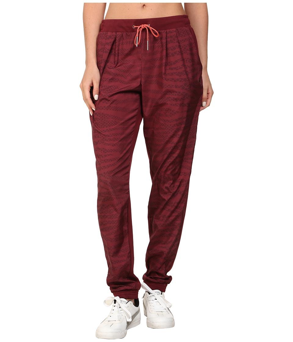 PUMA - Printed Woven Pant (Zinfandel) Women