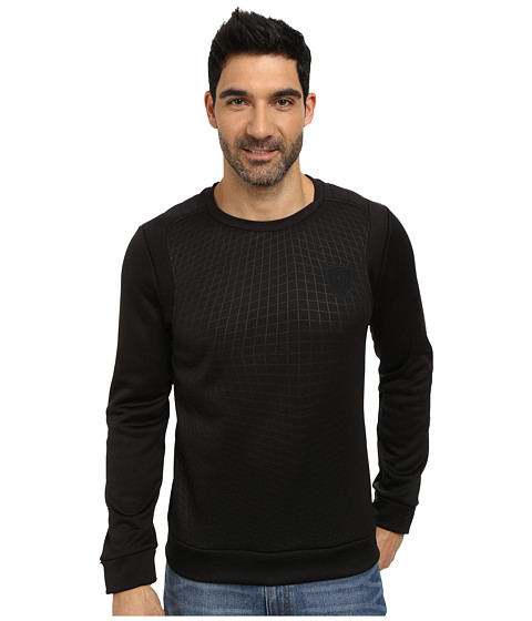PUMA - Ferrari Concept Crewneck Top (Black) Men's Sweatshirt