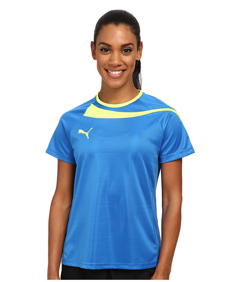 PUMA - Pulse Womens Jersey (Puma Royal/Fluro Yellow) Women's Clothing