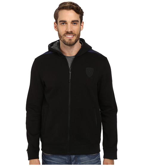PUMA - Ferrari Hooded Sweat Jacket (Black) Men's Jacket