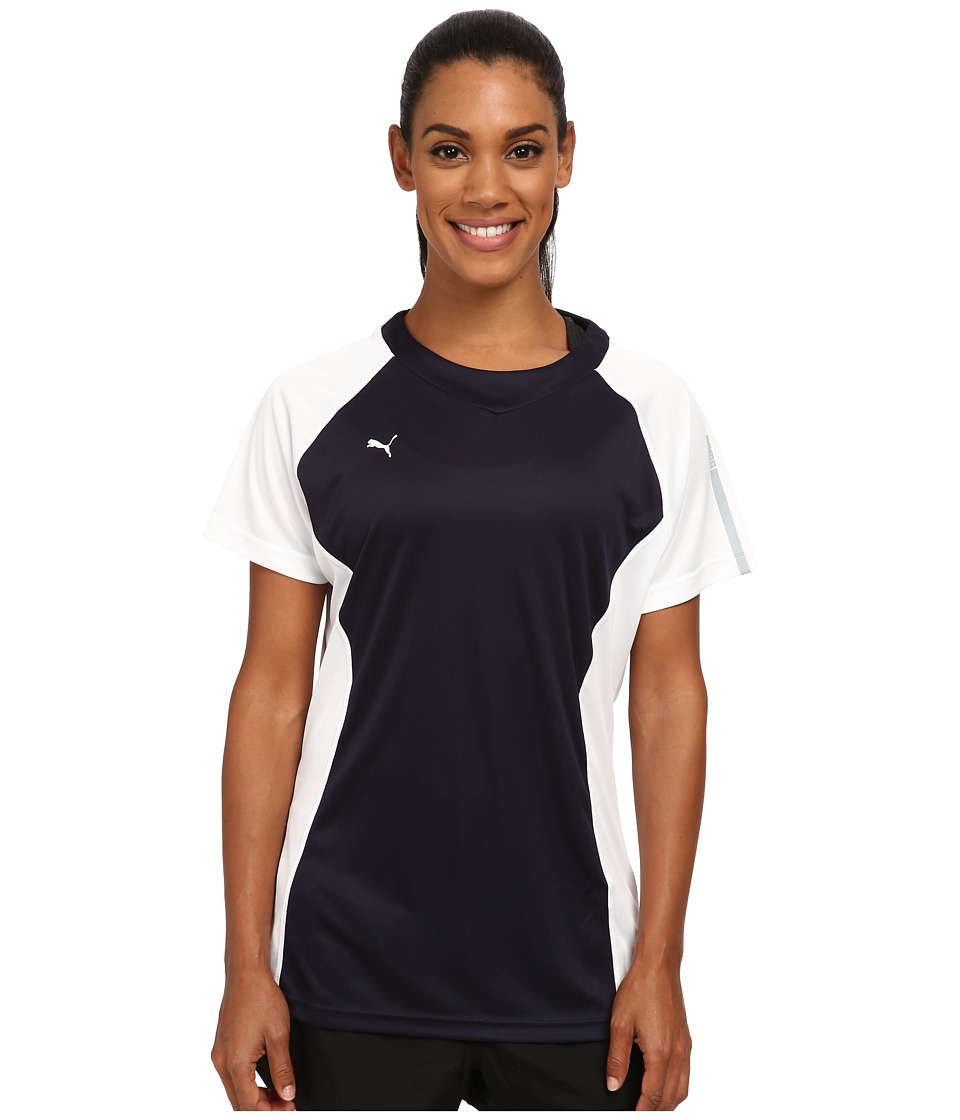 PUMA - Her Game Training Tee (New Navy/White) Women