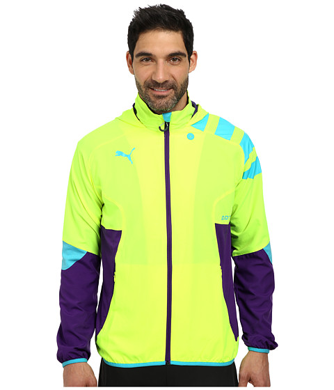 PUMA - IT Evotrg Light Woven Jacket (Fluro Yellow/Prism Violet) Men's Jacket
