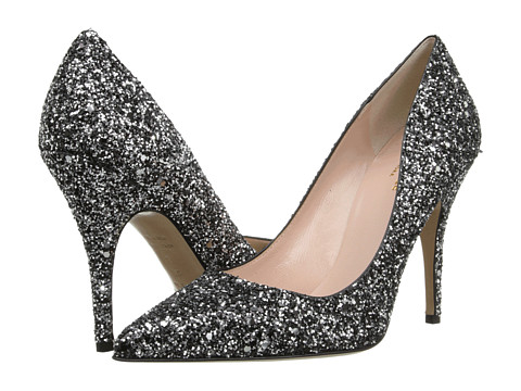 Kate Spade New York - Licorice (Black/Silver Glitter) High Heels