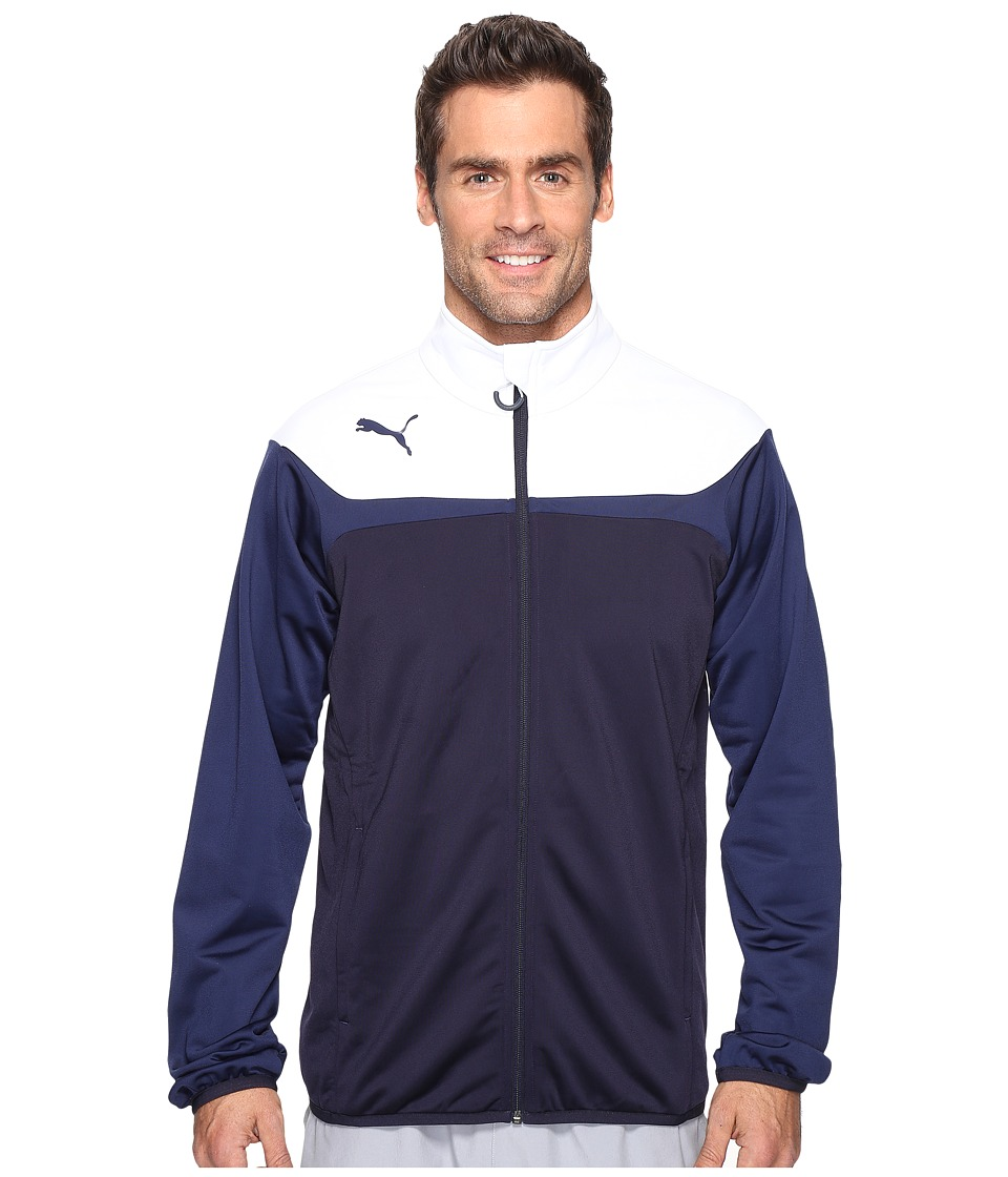 PUMA - Esito 3 Tricot Jacket (New Navy/White) Men's Jacket
