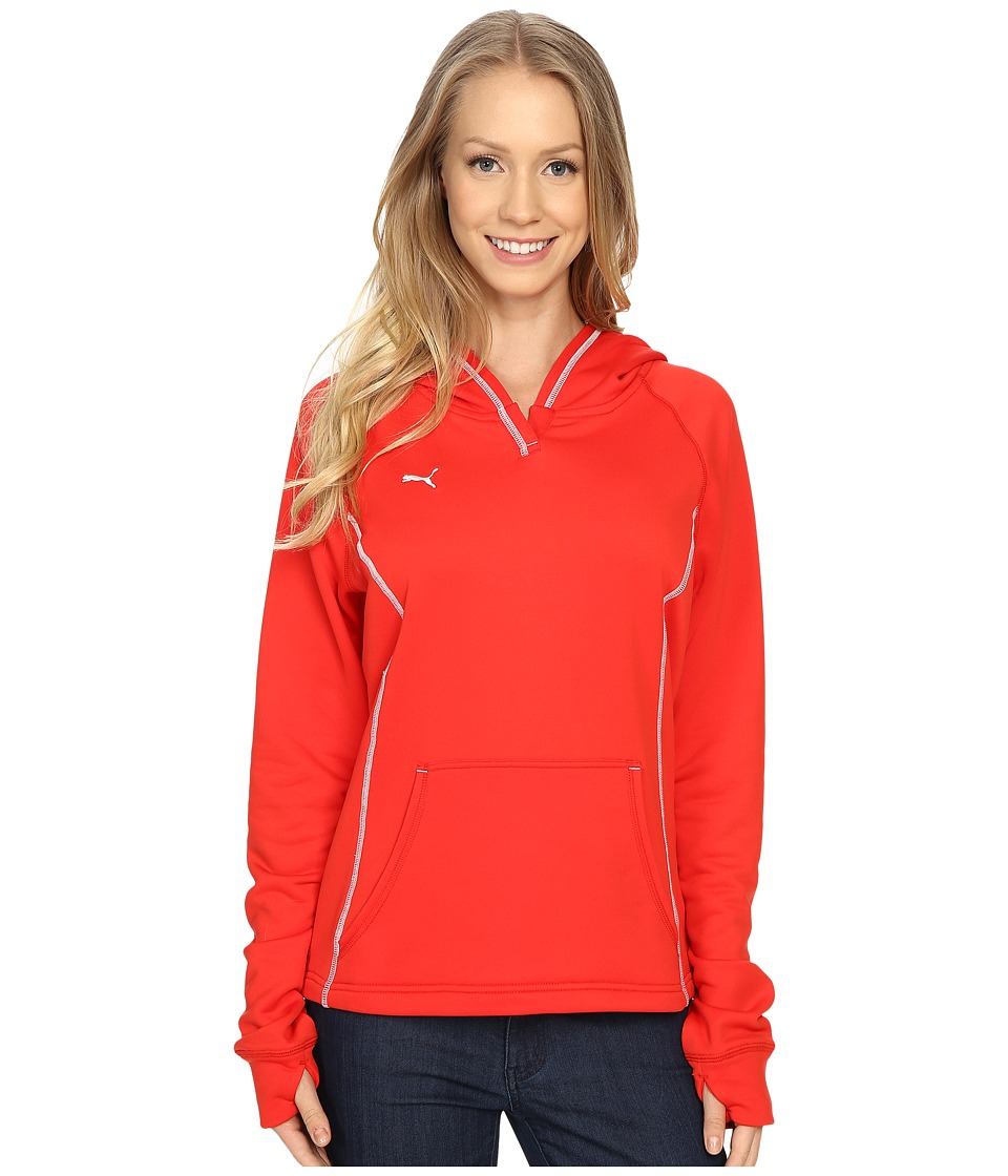 PUMA - Her Game Light Pullover (Puma Red/White) Women's Clothing